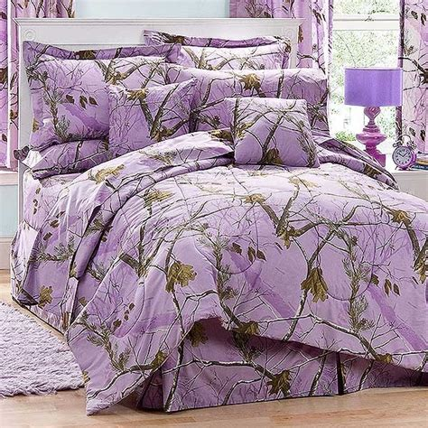 ap lavender twin size camo comforter set camouflage