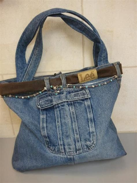 jeans tote bag pattern recycled denim purse patterns recycled jean purse by