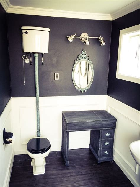 Bathroom by Gabriel Genier. High tank toilet, picture