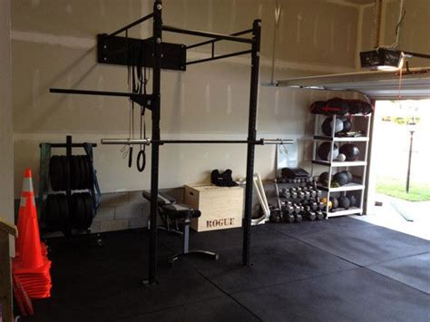 wall mounted rogue rack crossfit addict