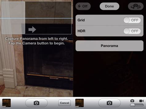 panorama mode comment activer le mode panorama cach 233 dans ios 5