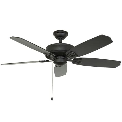 harbor flush mount ceiling fan shop harbor armory 52 in matte black downrod or