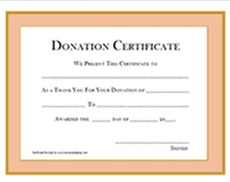 donation certificate templates printable donation certificates templates
