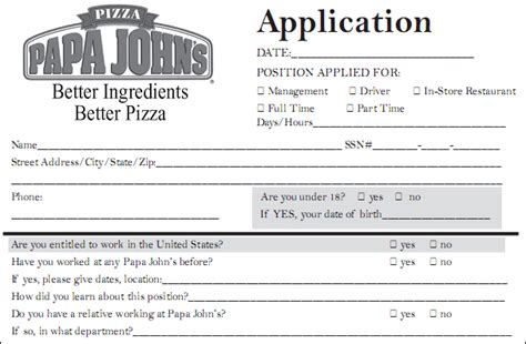 printable job application for jimmy johns papa john s application pdf print out
