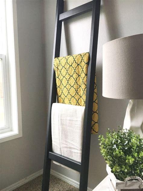black wood blanket ladder black  white quilt ladder blanket ladder diy blanket ladder