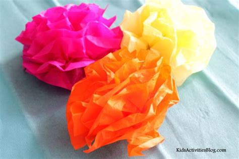 Cinco de mayo make a paper flower tissue paper craft kid stuff