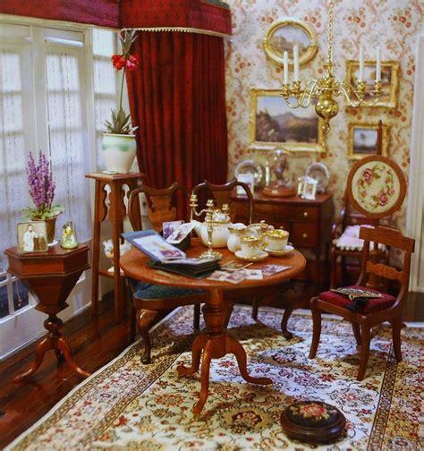 salon de  aleson miniaturas dollhouse dining room