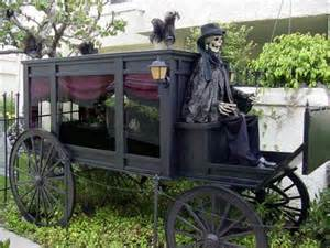 Halloween Props For Sale Old Fashioned Life Sized Horse Drawn Hearse For Halloween