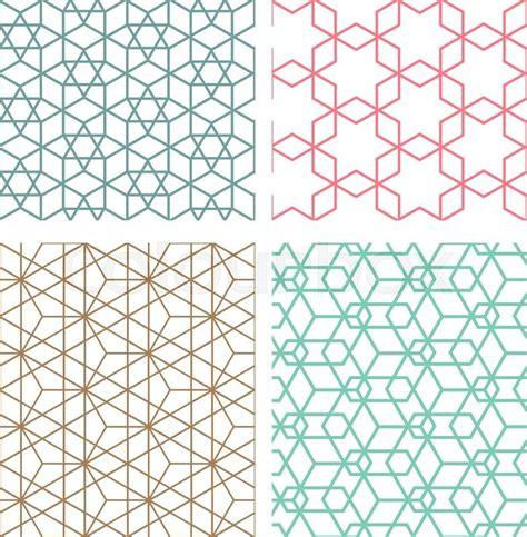 seamless pattern wiki set of mesh geometric seamless pattern in modern korean
