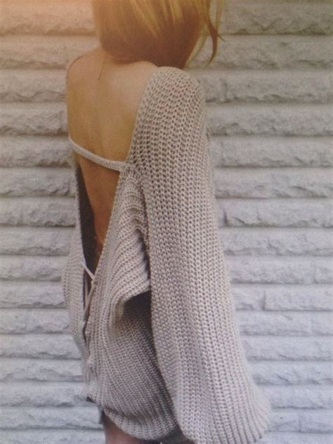 Backtothe Sweater open back sweater on the hunt