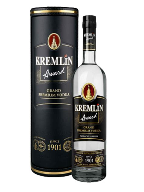 bathtub vodka kremlin award grand premium vodka 40 0 7 l leather tub