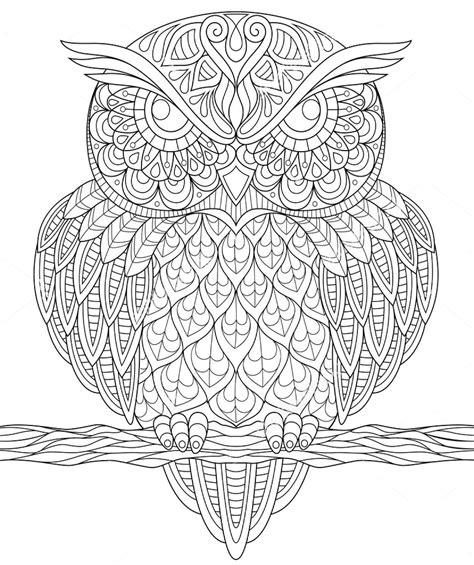 owl zentangle coloring page owl zentangle coloring page colorir pinterest colorir