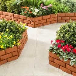 4 bordures de jardin imitation brique