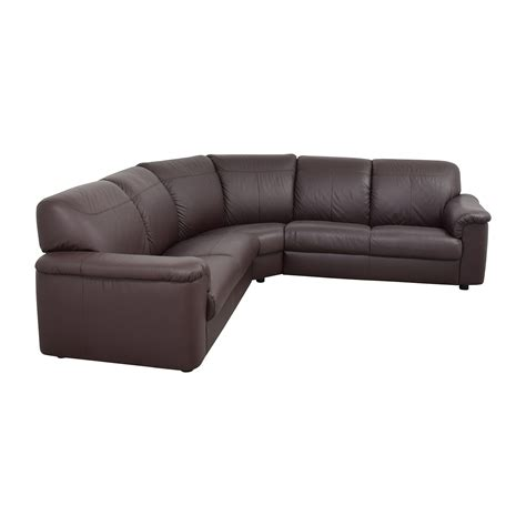 sectional sofa ikea 71 off ikea ikea plush brown leather sectional sofas