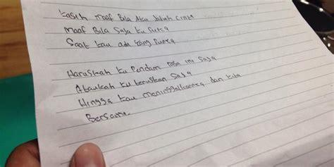 tulisan tangan quot orang ketiga quot ditemukan di apartemen tempat mahasiswa jatuh kompas