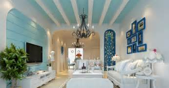 mediterranean home interior design 3d house blue and green mediterranean style 3d house