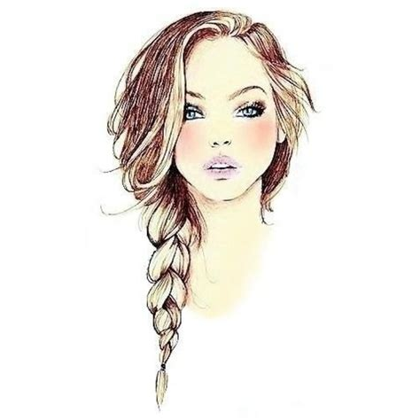 beautiful hairstyles drawing drawn braid hair plait pencil and in color drawn braid