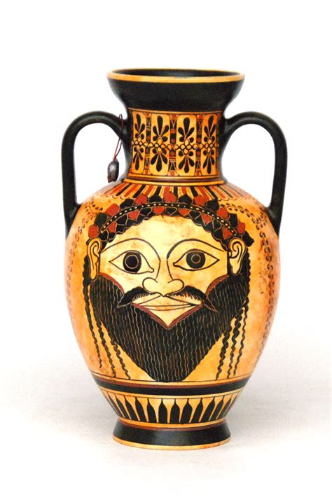 Dionysus Vase by 550 520 B C Attican Black Figured Hora Depicting Dionysus Holding A Kantharus With His