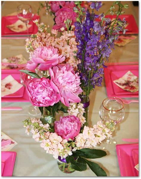 diy bridal shower centerpieces how to make peony centerpieces for a diy wedding shower budget wedding flower inspiration