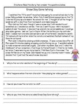themes for reading passages text evidence comprehension passages winter awesome