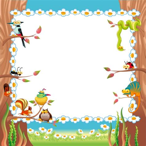design your frame online nature frame design vector free download