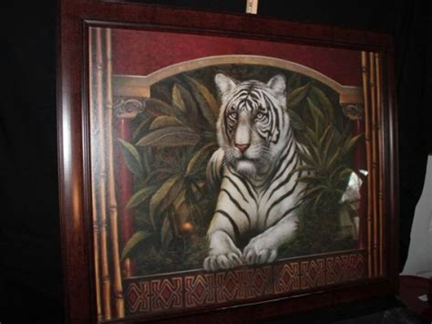 quot white tiger quot home interior print
