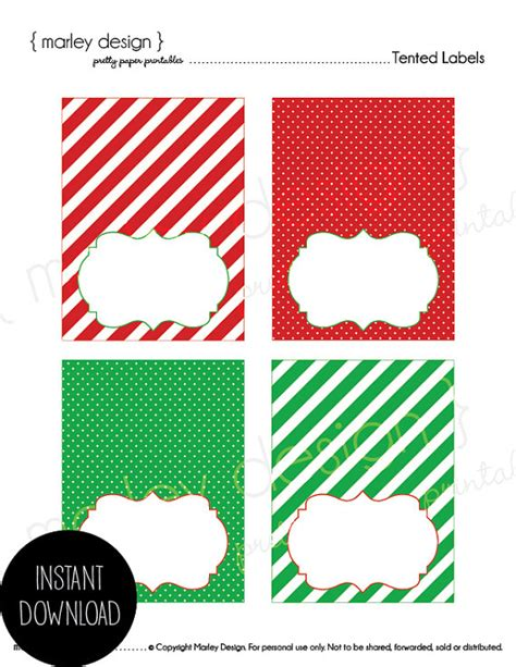 free printable christmas gift tags for food christmas tented labels printable buffet cards dessert