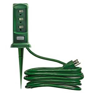 outdoor light extension cords outdoor light power yard stake 12 ft cord