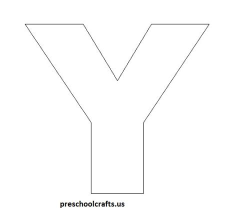letter y template letter y crafts preschool and kindergarten