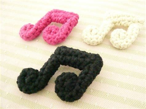 crochet pattern music notes one crocheted cotton music note brooch crochet krazy