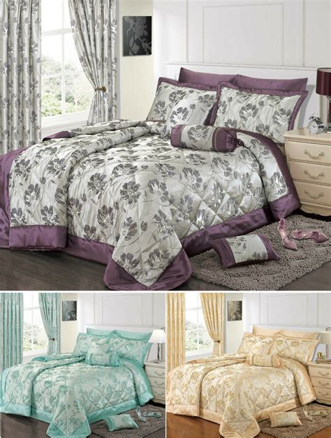 Duvet Comforter by Jacquard Bedding Set Luxury Premium Floral Duvet Set