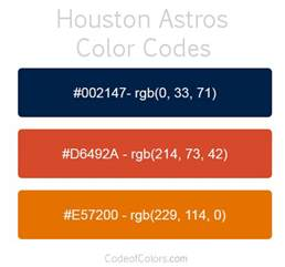 astros colors houston astros colors hex and rgb color codes