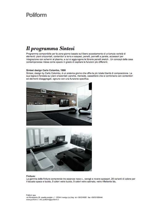 libreria sintesi libreria sintesi poliform day systems scarica modelli