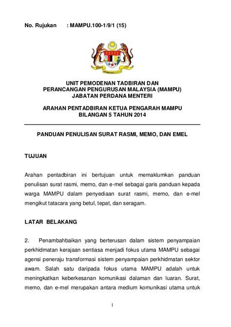 format email rasmi kerajaan ap 5 tahun 2014 pdf penulisan surat rasmi