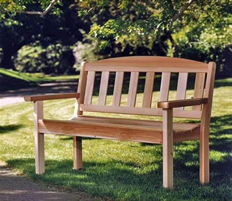 cedar garden bench build your own bench kit wood park benches treetop 28