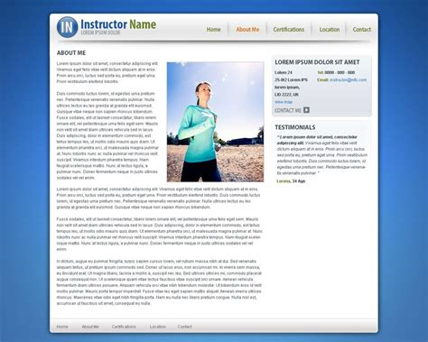 Free Fitness Template 30 Personal Trainer Web Template Phpjabbers Fitness Trainer Website Templates