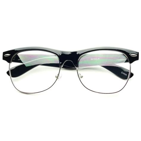 Frame Wayfarer Clubmaster Clear retro clear lens half frame wayfarer clubmaster glasses eyeglasses in blck w181
