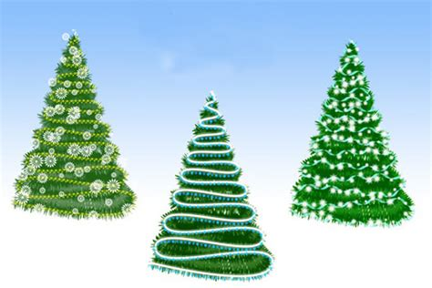 12 free christmas tree photoshop brushes