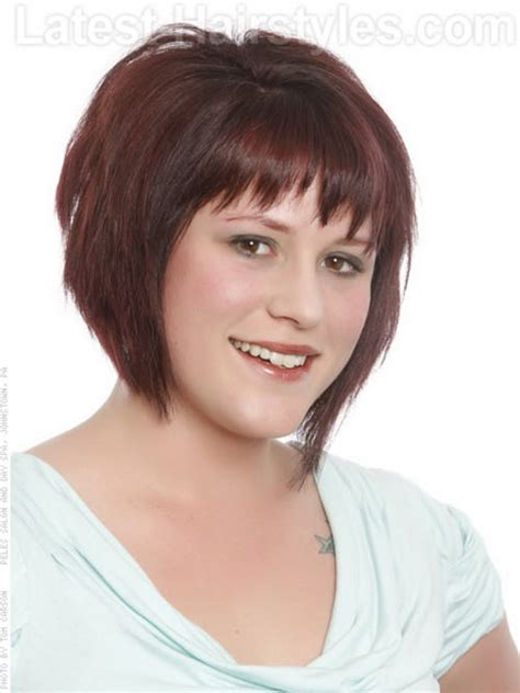 haircuts for thick hair and fat face short hairstyles for a round face