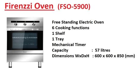Oven Firenzzi cooking with firenzzi electric oven