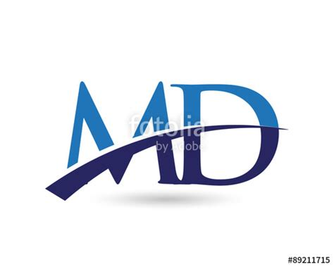 Maryland Number Search Quot Md Logo Letter Swoosh Quot Stock Image And Royalty Free Vector Files On Fotolia Pic