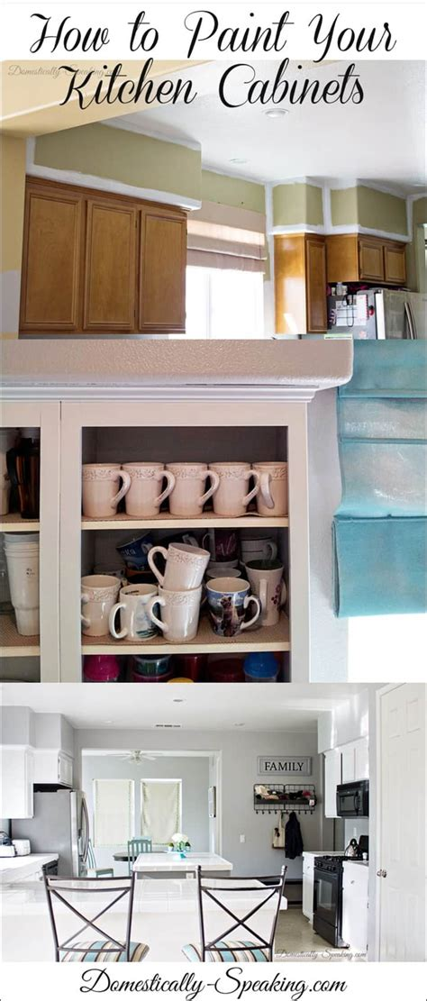 how to paint your cabinets how to paint your kitchen cabinets domestically speaking