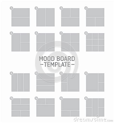 vector mood board template stock vector image 62421966
