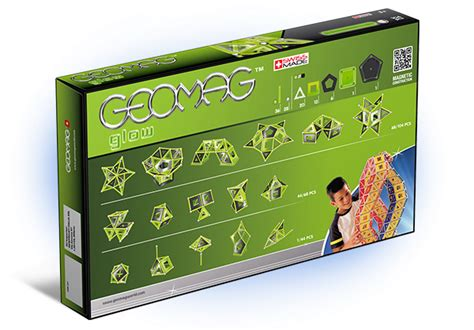 Geomag 337 Panels Glow 104 Pcs Made In Switzerland T0210 children s toys glow in the constructions geomag glow 104