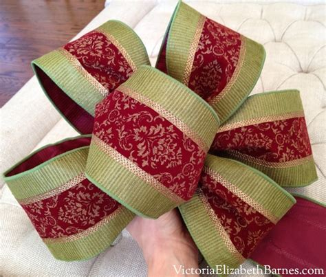 diy holiday bow making a large christmas decoration bow