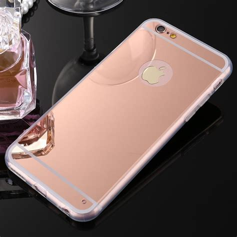 Bling Bling Rosegold rosegold mirror bling soft gel cover f apple