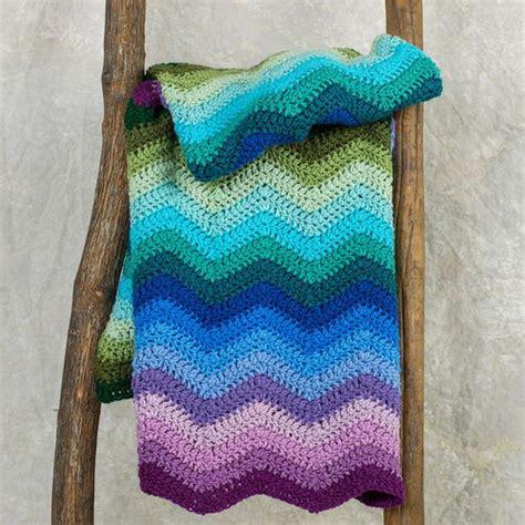 splendid ripple throw free crochet pattern from red heart mystic jade ripple throw allfreecrochetafghanpatterns com