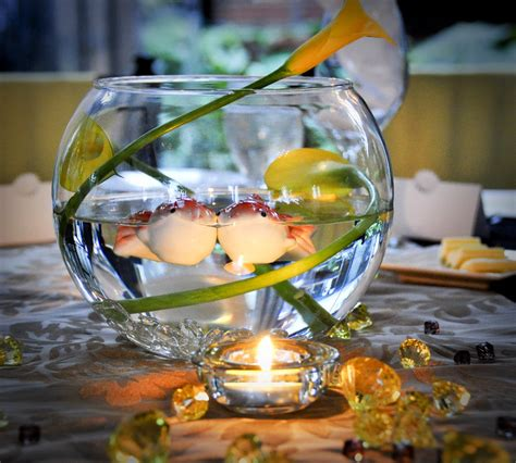 Fish Bowl Vase Decoration Ideas by Top 10 Fishing Themed Wedding Ideas Camo After
