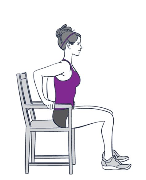 Chair Push Ups by 9 Exercises You Can Do Without Getting Out Of Your