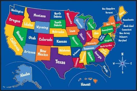 kid map of usa united states map holidaymapq